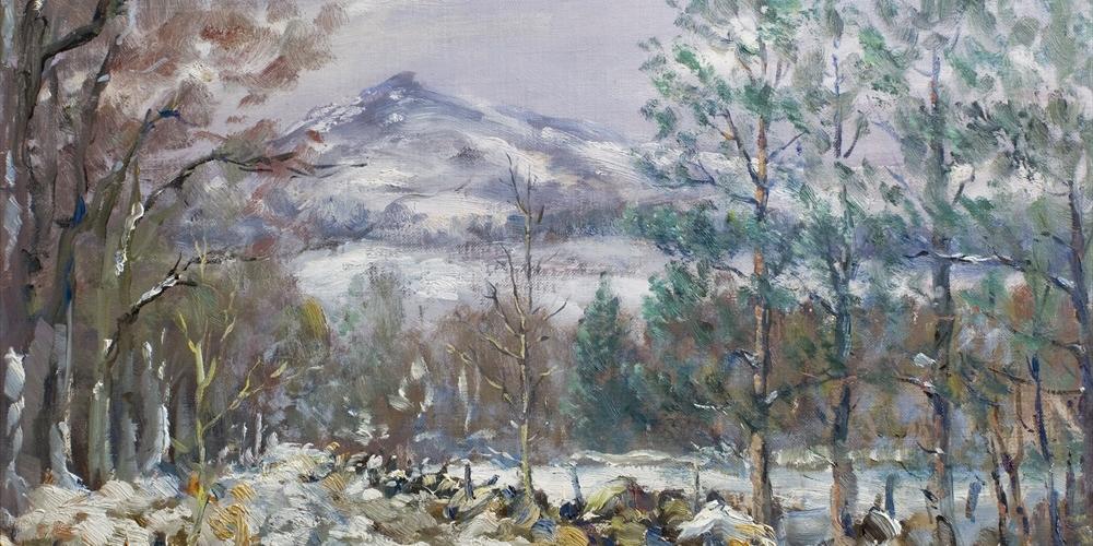 Winter scene near Blairdaff.