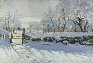'The Magpie' by Claude Monet 1869