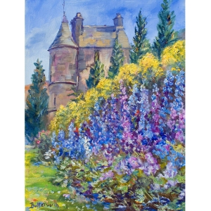 The Delphinium Walk at Falkland Palace.