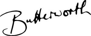 butterworth signature black transparant